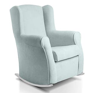 sillón lactancia. mecedora verde