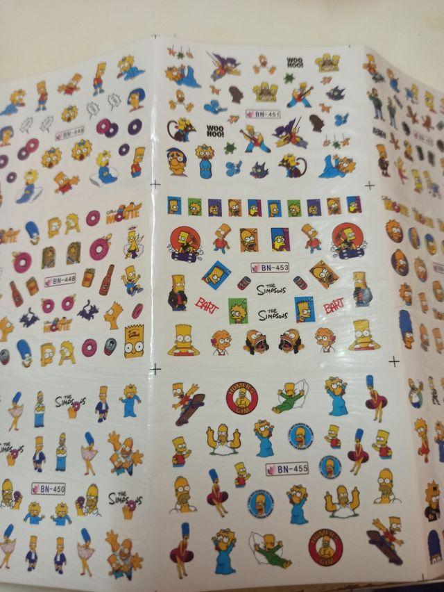 pegatinas para uñas Simpson