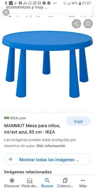 Mesa y Silla Mammut Ikea.