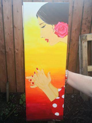 Flamenco singer art piece
