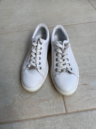 Zapatillas Jimmy Choo Cuero Blanco suave