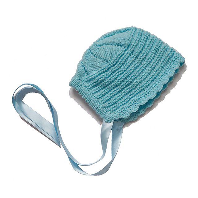Capota azul bebé lana 3-6 meses