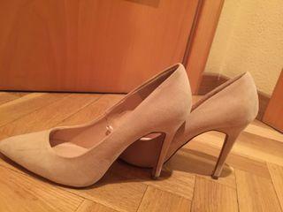 Zapatos nude tacón