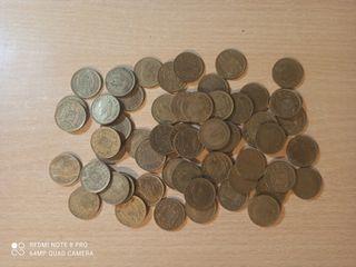 Lote de monedas de 1 peseta