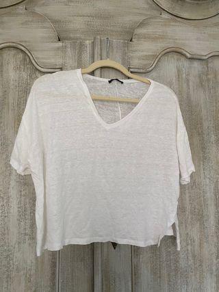 Top Zara S blanco