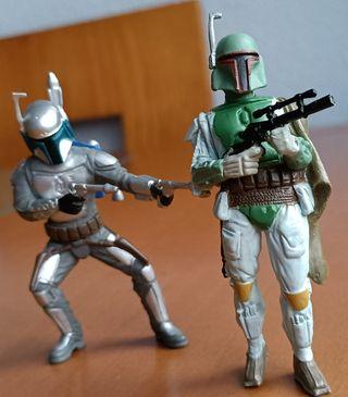 Figuras de Jango y Boba Fett de Star Wars