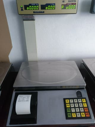 Balanza báscula mostrador con impresora