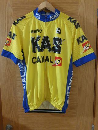 Maillot ciclismo KAS vintage Talla XXL. Nuevo