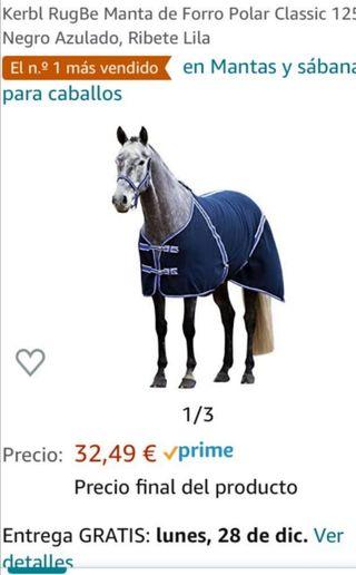 traje polar para caballo