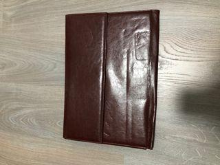 Maletín/cartera de piel marrón