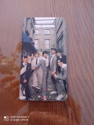 Photocard grupal BTS