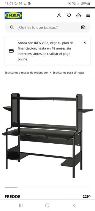 escritorio negro ikea