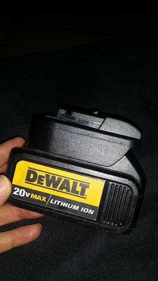 adaptador de bateria dewalt para dexter y worx