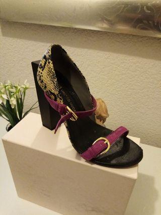 zapatos tacon muy alto cocodrilo