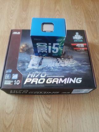 placa h170 pro gamming e intel core i5 7400 nuevos