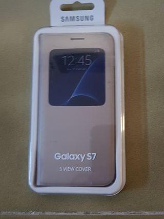 Funda Samsung original Galaxy S7 S View Cover