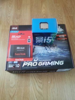 i5 7400 placa gamming h170 pro ssd480 plus, nuevo