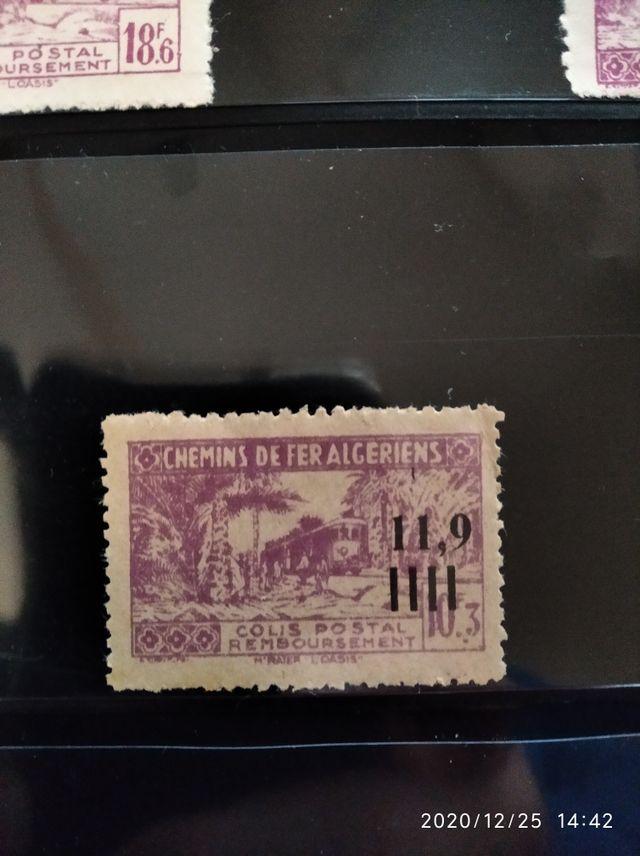 sellos chemins de Fer Francia colonia de argelia
