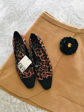 Bailarinas Leopardo ZARA *NUEVAS*