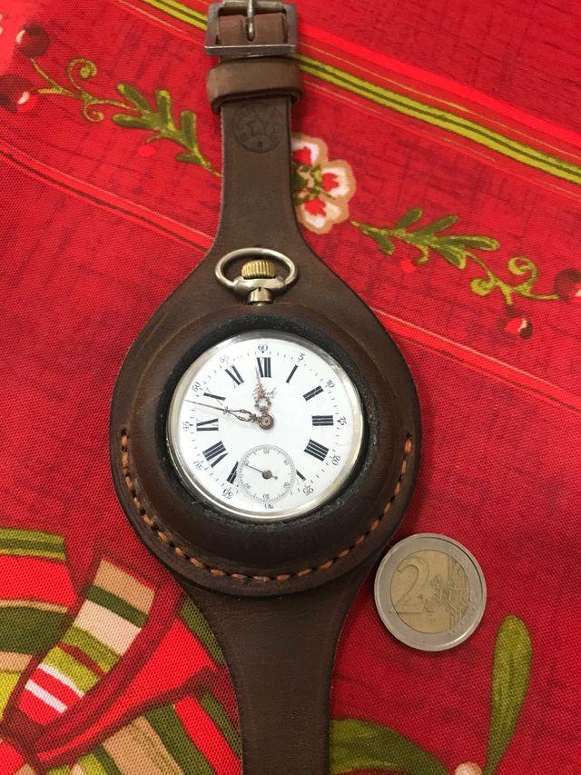 Reloj bolsillo Patek plata trincheras 1870 52 mm