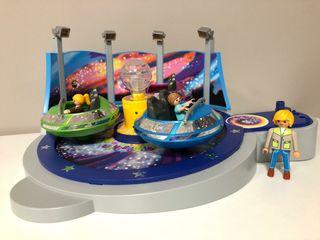 Playmobil naves giratorias parque de atracciones