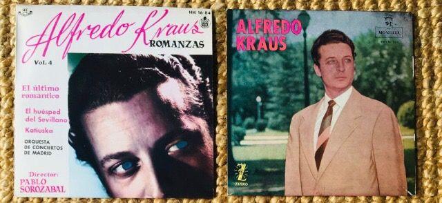 ALFREDO KRAUS 2 Discos Vinilos EP Precio por los 2