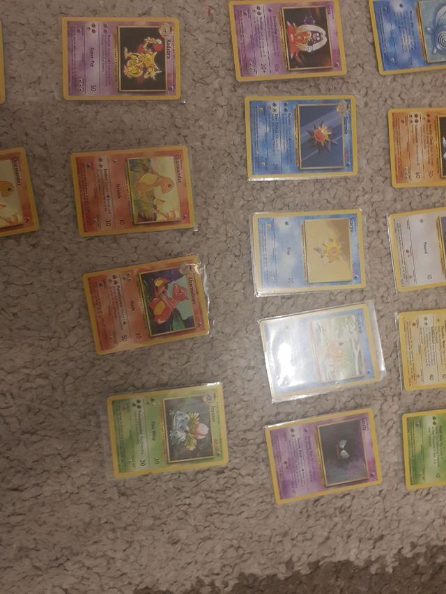 Pokemon 1999 base set cards pristine condition