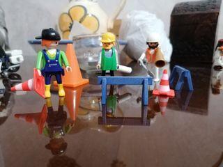 playmobil obreros