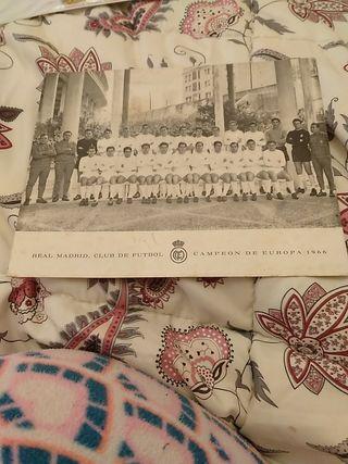 postal real Madrid 1966