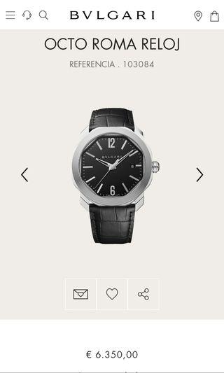 Reloj Original Bulgari Nuevo Estrenar