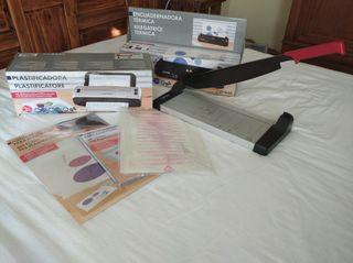 Packs guillotina, encuadernadora, y plastificafora