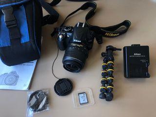 Cámara réflex Nikon D3100 + libro de REGALO