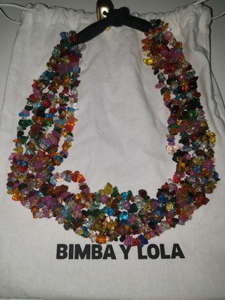 collar piedras de colores bimba y lola