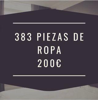 383 piezas de ropa 200€