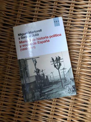 Libro Manual de historia política y social UNED
