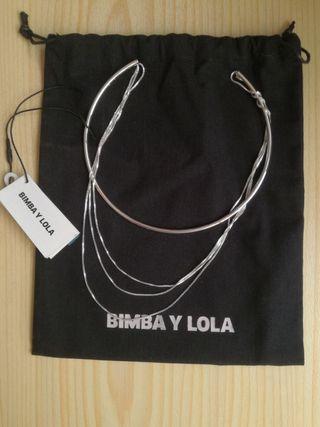 Collar Bimba y Lola plateado NUEVO A ESTRENAR