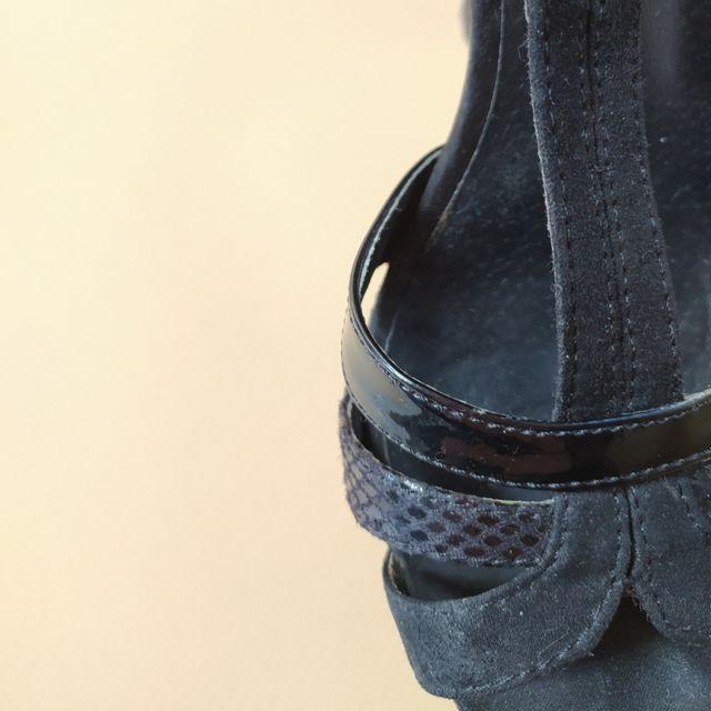Zapatos sandalia tacón negros