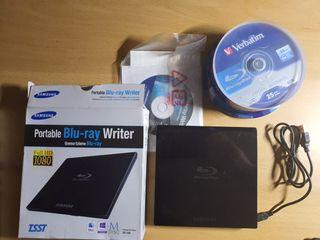 Grabador Blu-ray portátil y discos BD-R