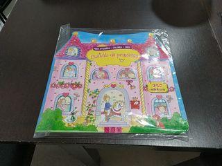 Libro pegatinas castillo de princesas