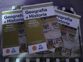 Temario Oposiciones Secundaria Geografía Historia