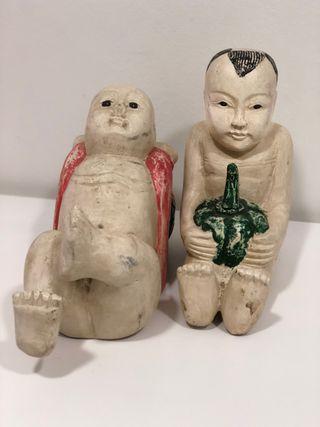 Pareja de figuras japonesas Circa 1.950