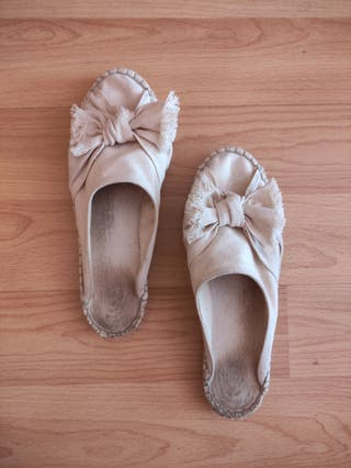 Sandalias de tela y esparto de eseOese