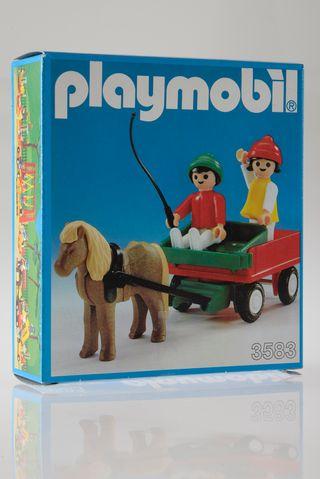 Playmobil ref. 3583 Niños con carro 1983