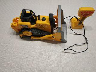 Escabadora Bulldozer de cadenas teledirigida