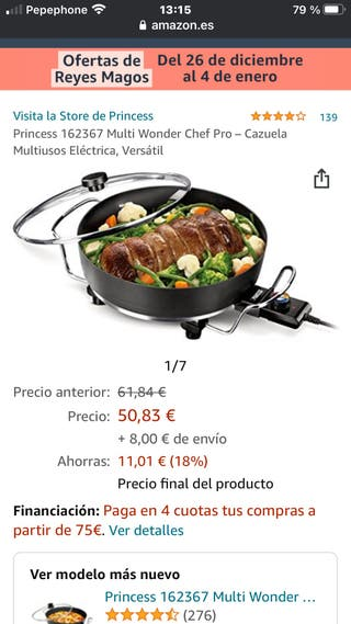 Princess Multi Wonder Chef Pro(sartén,plancha,wok)
