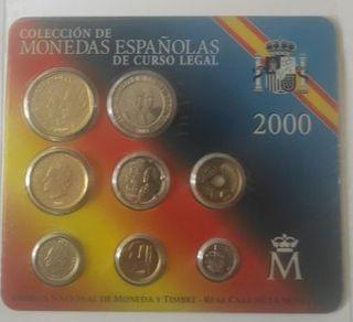MONEDAS ESPAÑOLAS CURSO LEGAL AÑO 2000