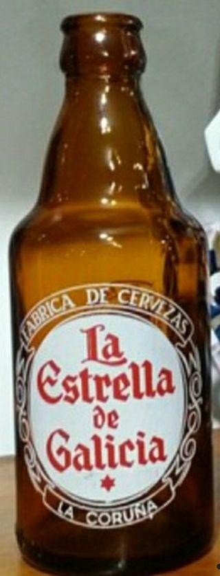 Antigua botella serigrafiada Estrella Galicia
