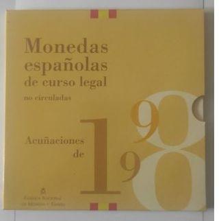 MONEDAS ESPAÑOLAS CURSO LEGAL AÑO 198