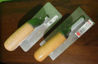2 Llanas o talochas acero inox. (9€ las 2)