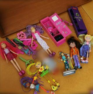 lote 8 muñecas + accesorios / muñeco muñeca niña